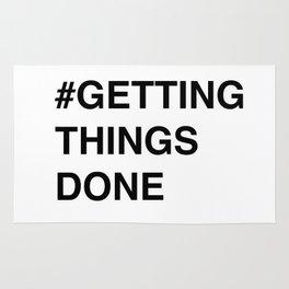 #gettingthingsdone in white Rug