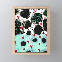 Falling Hearts Framed Mini Art Print