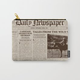 Vintage Newspaper Carry-All Pouch