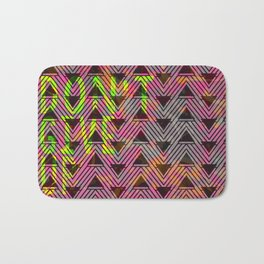 Don't Give Up Quote with Geometric Triangle Pattern Bath Mat