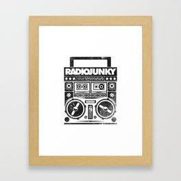 RADIO JUNKY BOOMBOX Framed Art Print