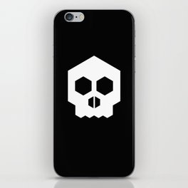 hex geometric halloween skull iPhone Skin