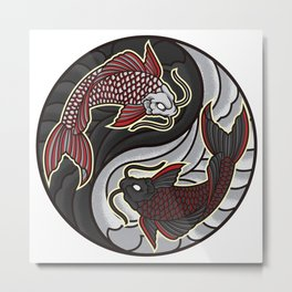 Koi Yin Yang | Fish Fishing Aquarium Fish Tank Metal Print