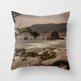 Pacific Summer Throw Pillow