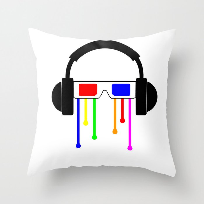 Technicolor tears  Throw Pillow