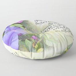 Serenity Prayer Morning Glories Glow Floor Pillow
