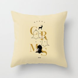 Merry Christmas Typo Throw Pillow