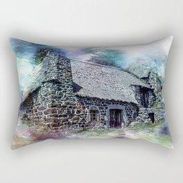 Cottage House Thatch Rectangular Pillow