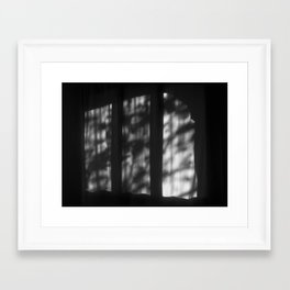 There's a light at Casa Milà. Barcelona Framed Art Print