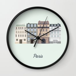 Vector City - Paris Wall Clock