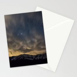Meteor Over The Bridgers Stationery Cards