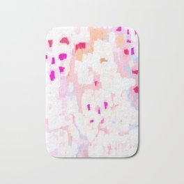 Netta - abstract painting pink pastel bright happy modern home office dorm college decor Bath Mat