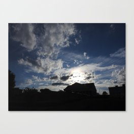 Sky in Downtown Maryville Canvas Print