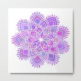 beauty pastel mandala Metal Print