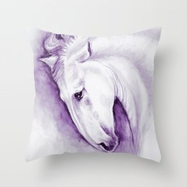 Purple Andalusian Throw Pillow