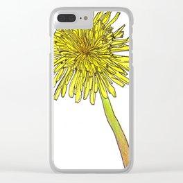 Dandelion Detail Clear iPhone Case