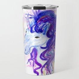 Fantasy unicorn portrait Travel Mug