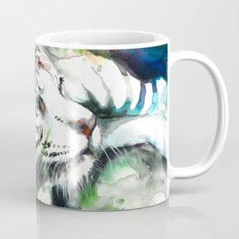 WHITE TIGER WATERCOLOR Coffee Mug