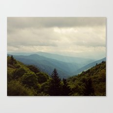 THE LIGHT THROUGH THE CLOUDS Canvas Print