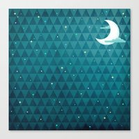 night sky Canvas Prints featuring Night Sky by littleclyde