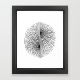 Mid Century Modern Geometric Abstract Radiating Lines Framed Art Print