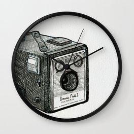Kodak Box Brownie Camera Illustration Wall Clock