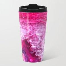 pink agate Metal Travel Mug