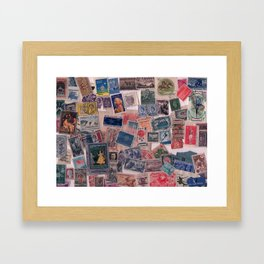 20th Century through stamps Framed Art Print