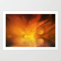 skyfall Art Prints featuring skyfall by LuMixaArt