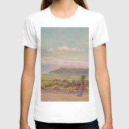 Lake Maggiore, Lake Como Piedmont, Italy Region alpine landscape by Angelo Morbelli T-shirt