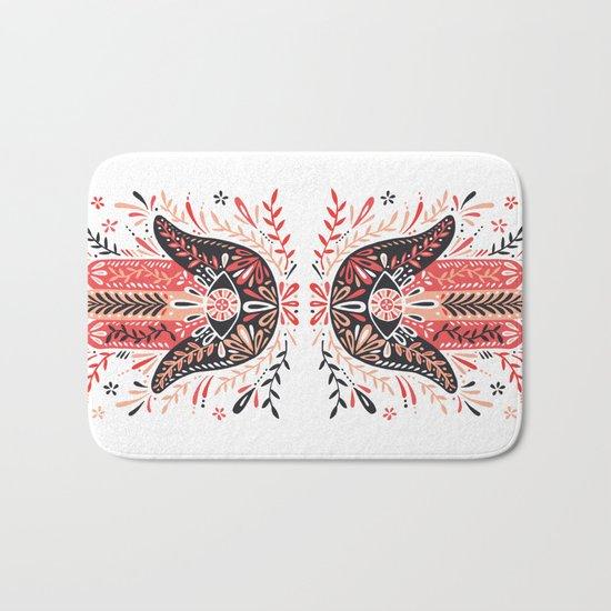 Hamsa Hand – Red & Black Palette Bath Mat