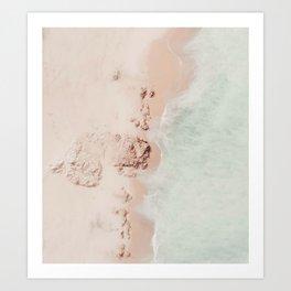 beach - pink champagne Art Print