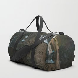 Fairytale Castle in a winter forest in Germany - Landscape and Architecture Duffle Bag