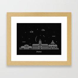 Padua Minimal Nightscape / Skyline Drawing Framed Art Print