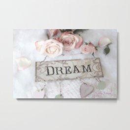 Shabby Chic Dream Roses Metal Print