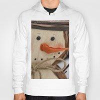 snowman Hoodies featuring Snowman  by IowaShots