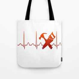 CARPENTER HEARTBEAT Tote Bag