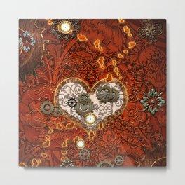 Steampunk, glowings hearts Metal Print