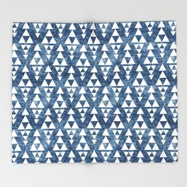 STACKED NAVY Throw Blanket