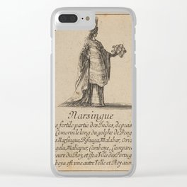 Game of Geography - Narsingi, India (Stefano della Bella, 1644) Clear iPhone Case