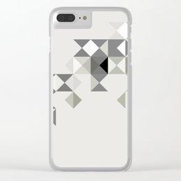 GREY PYRAMID Clear iPhone Case