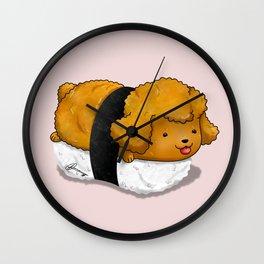 Poodle Nigiri Wall Clock