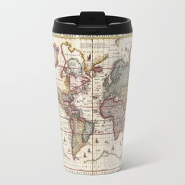 1652 Map of the World, Doncker Sea Atlas World Map Travel Mug