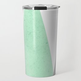 MINT COPPER MARBLE GRAY GEOMETRIC MOUNTAINS Travel Mug