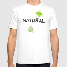 Natural Mens Fitted Tee SMALL White