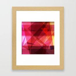 Dark Igneous strata Framed Art Print
