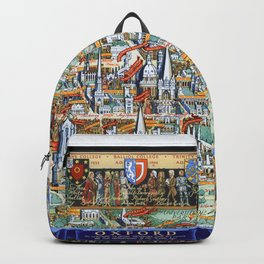 OXFORD university map ENGLAND dorm decor Backpack