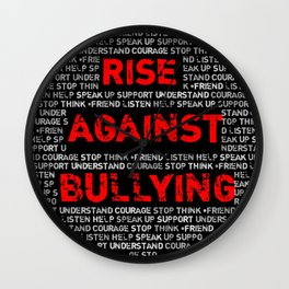 Rise Against Bullying, by Lili Wall Clock