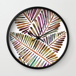 Tropical Banana Leaves – Vintage Palette Wall Clock