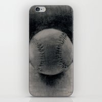 baseball iPhone & iPod Skins featuring Baseball by LeavittArtz
